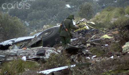 Photo 2 du crash de l'avion militaire en Algérie
